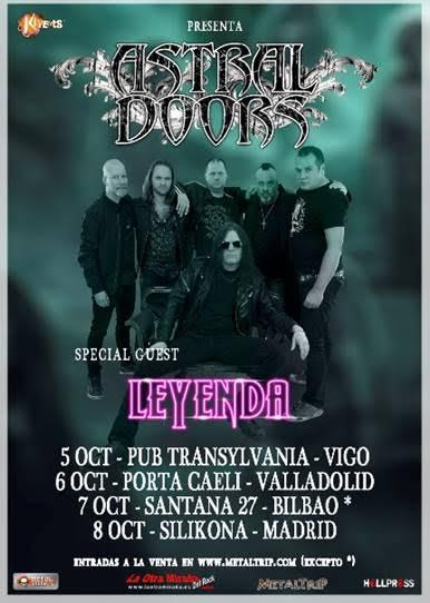ASTRAL DOORS / LEYENDA en concierto!