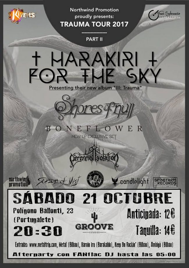 HARAKIRI FOR THE SKY en concierto!