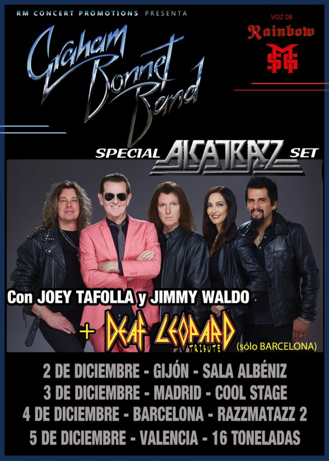 GRAHAM BONNET BAND en concierto!