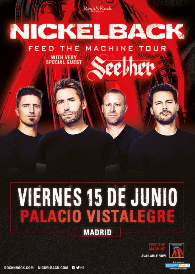 NICKELBACK / SEETHER - Horarios
