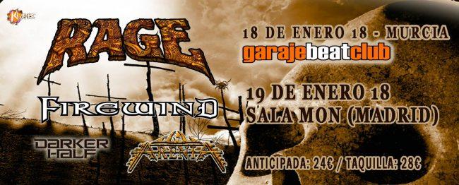 RAGE + FIREWIND - GIRA ESPAÑOLA 2018