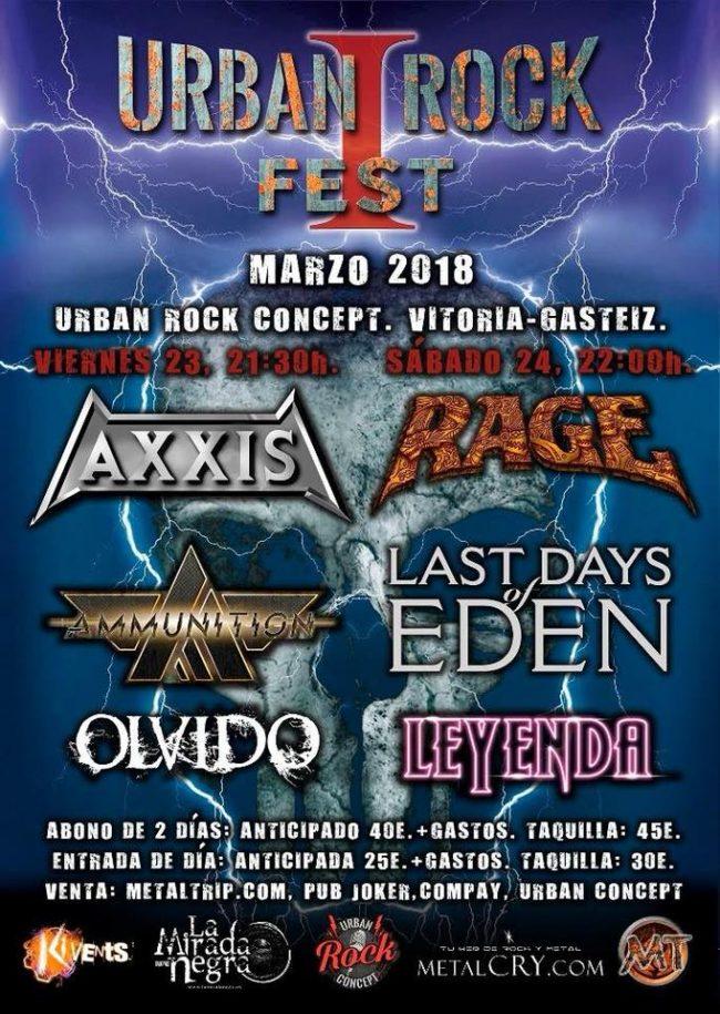 URBAN ROCK FEST 2018 - Horarios