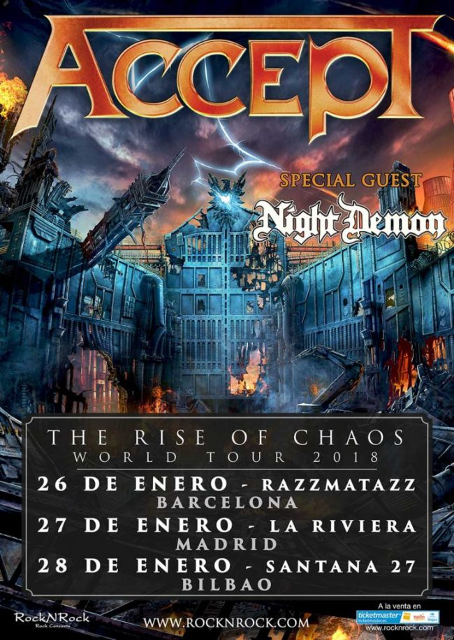 ACCEPT / NIGHT DEMON - Horarios