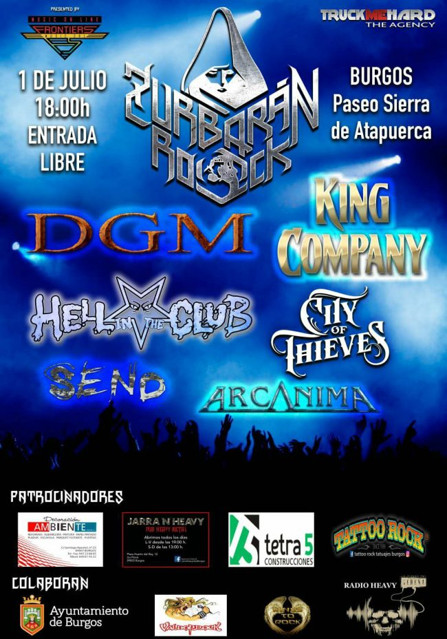 ZURBARÁN ROCK 2018 – Festival gratuito internacional en Burgos