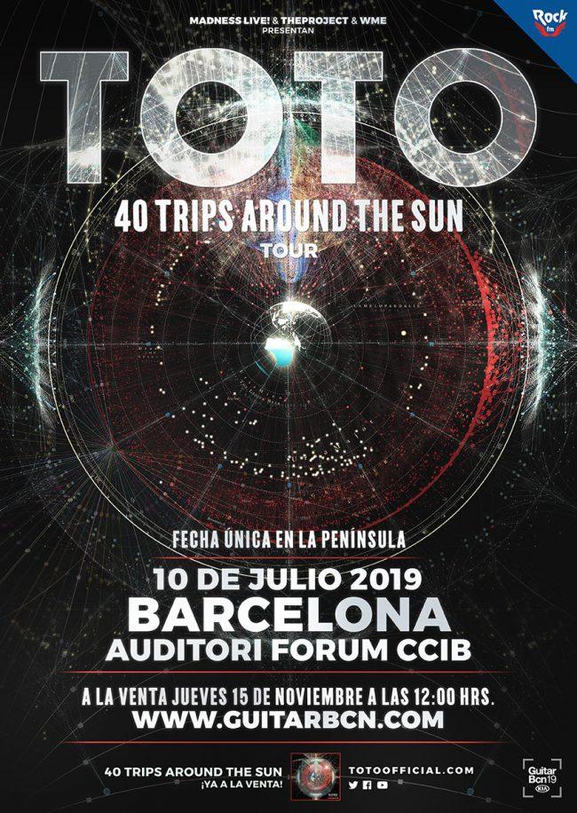 TOTO en Barcelona, julio 2019