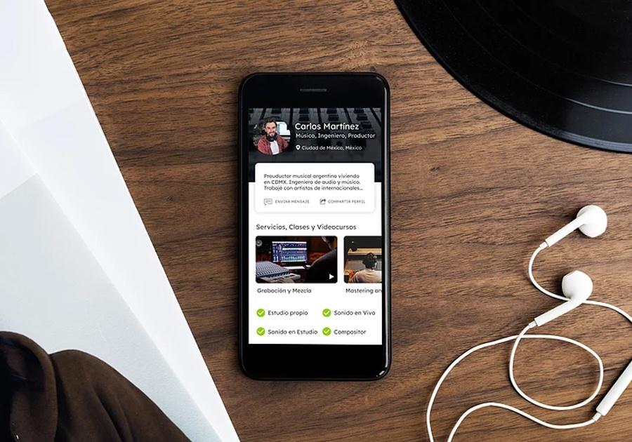 Una aplicación para la industria musical