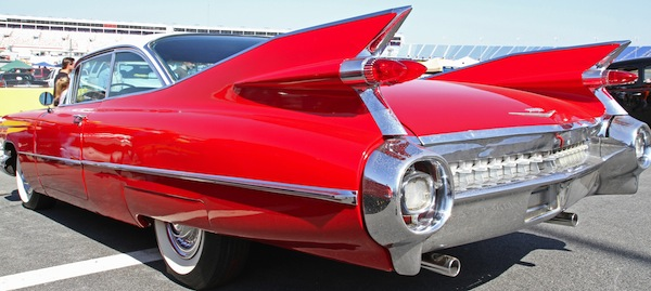 Red Cadillac circa 1959