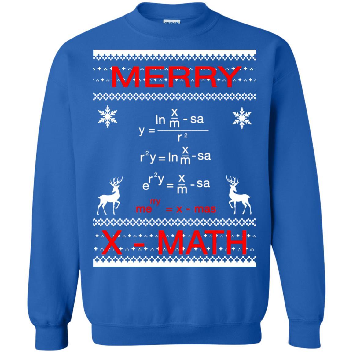Merry X Math Christmas Sweater Ugly Sweatshirts