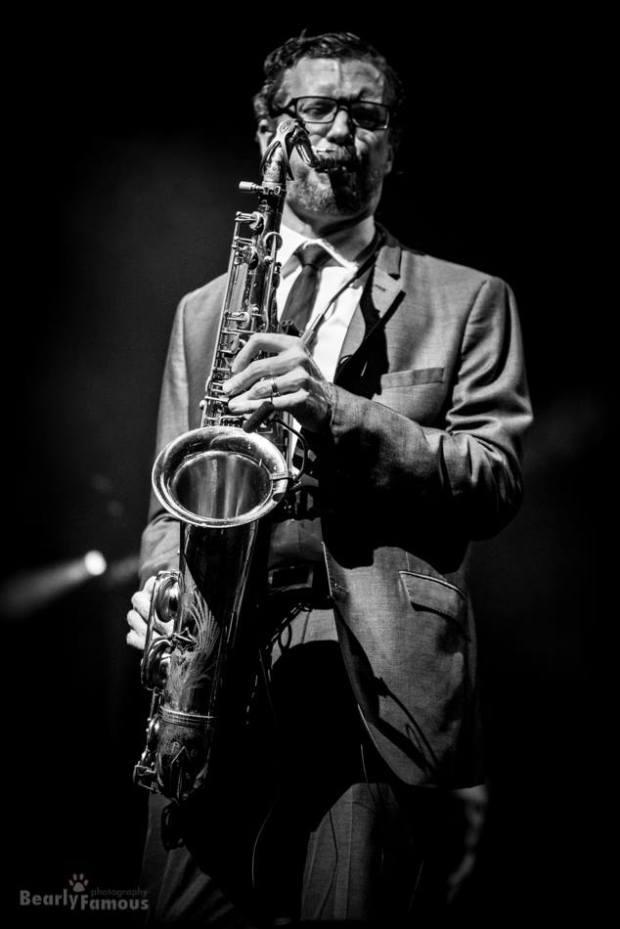 Sax player at Matt Goss concert