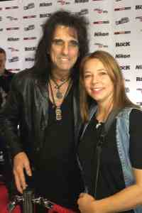 Alice Cooper and Rock At Night's Amanda Cunningham