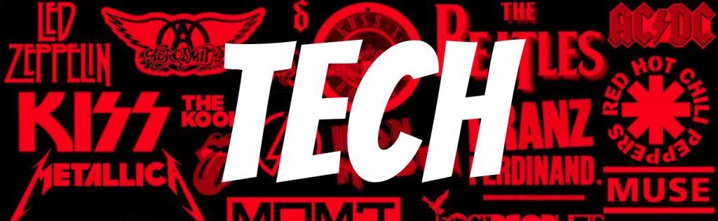 Tech at Rock Band T-shirts