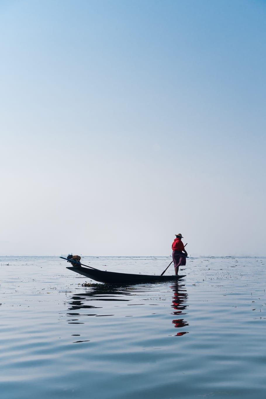 pêcheur, lac Inle, Myanmar