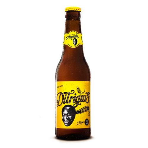 DiTriguis (Estilo: Witbier / ABV: 4,5% / Cervejaria: Brassaria Ampolis / País: Brasil)