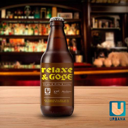Relaxe & Gose (Estilo: Gose / ABV: 5% / Cervejaria: Urbana / País: Brasil)