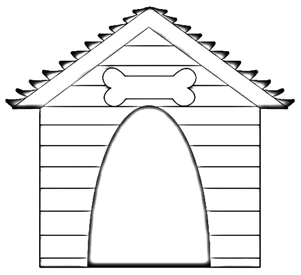 Drawing Dog House Coloring Pages