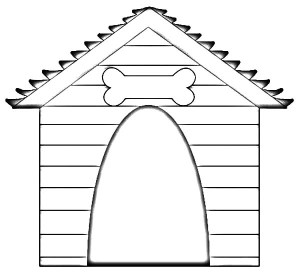 Drawing-Dog-House-Coloring-Pages