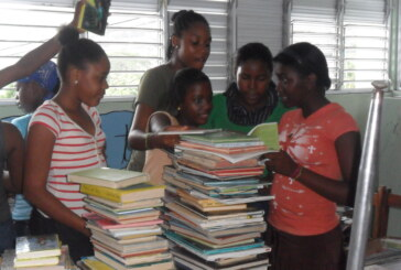 Students partner to send books to Caribbean