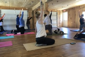 Yoga guru's guests giggle over goats