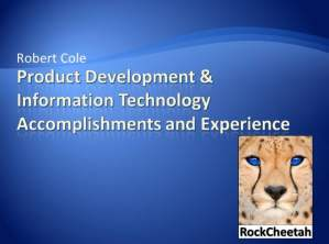 Product Development and Information Technology Experience