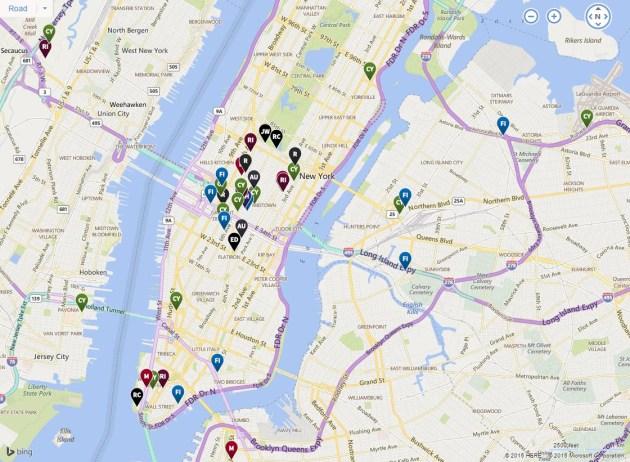 Marriott International's portfolio of New York City area hotels.