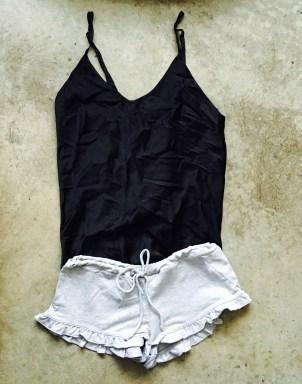 Silk Cami with Drawstring Shorts