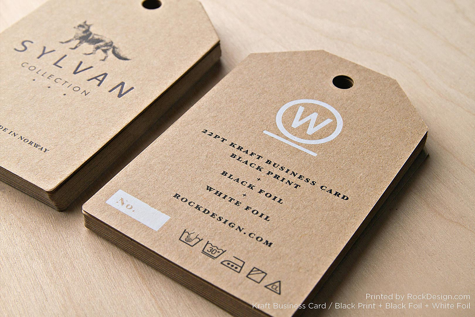 FREE Kraft Paper Business Card Template