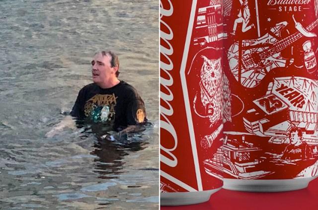Fã que nadou um lago para voltar no show do Slayer, é homenageado em lata de cerveja