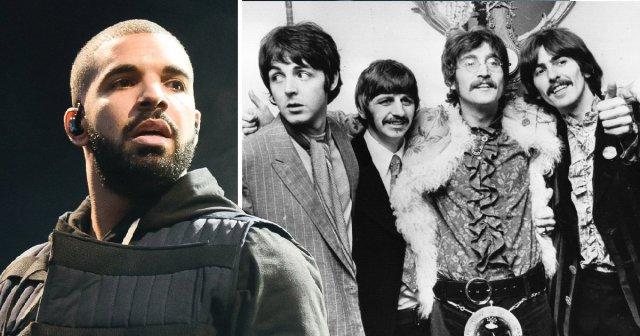 Drake faz nova tatuagem para zombar os Beatles