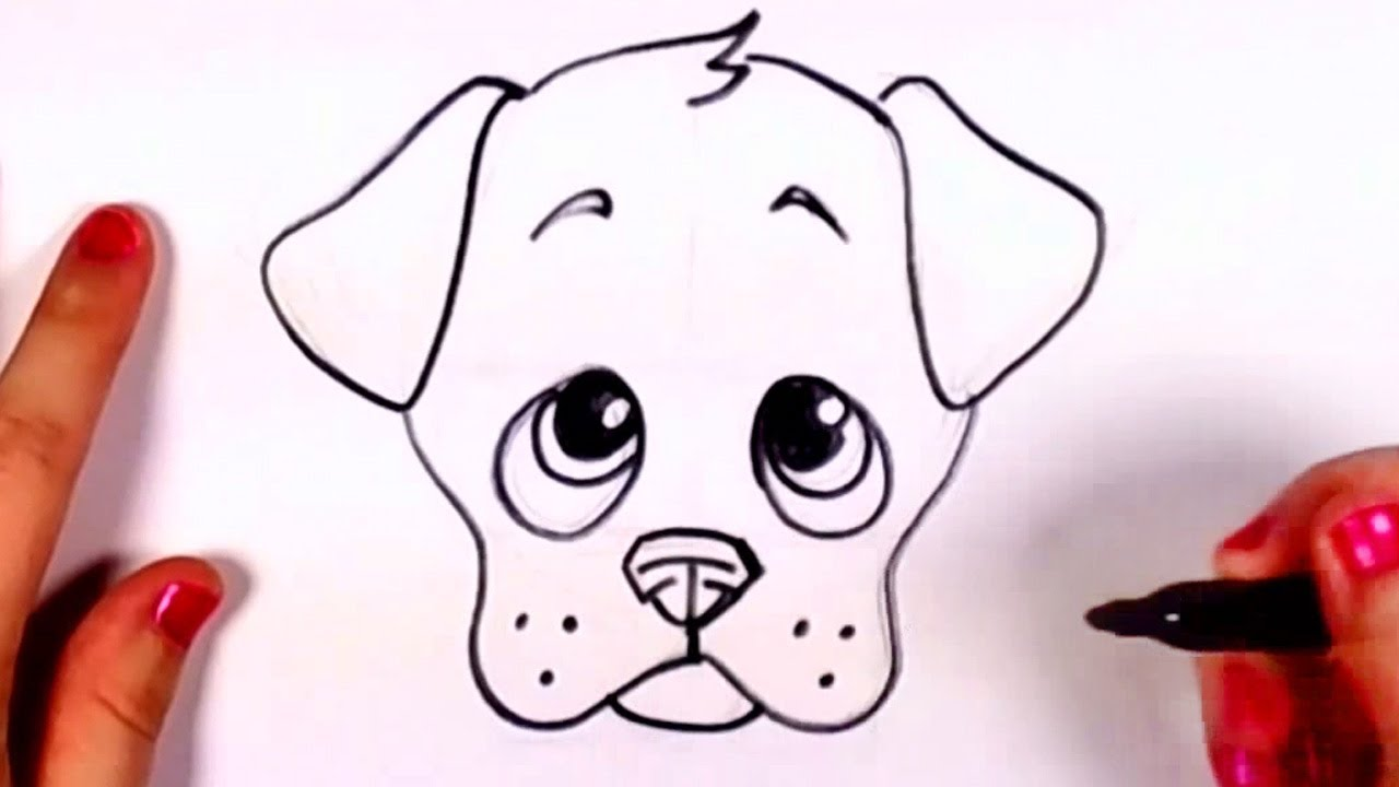 how to draw a realistic dog step by step for beginners slow and easy