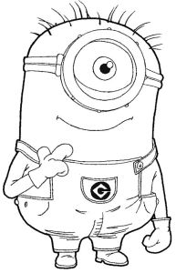 How to draw cute minion