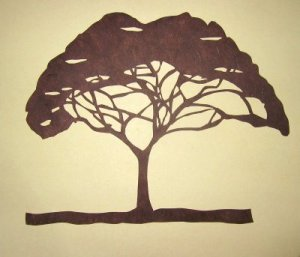 Method to draw acacia tree