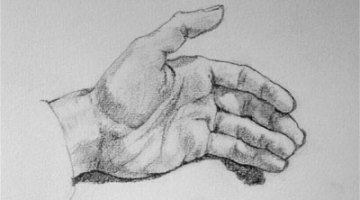 How to draw 3D hand & Fingers easy step by step for beginners video tutorial