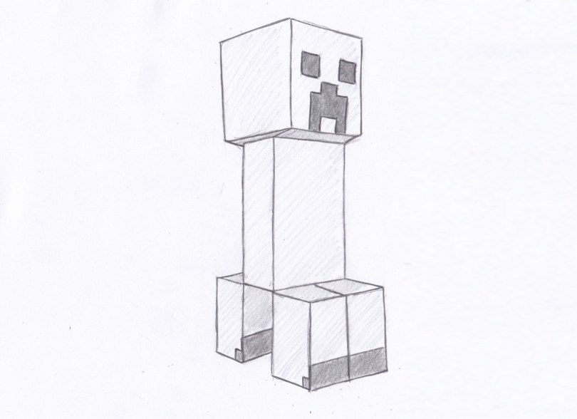 how to draw creeper in minecraft