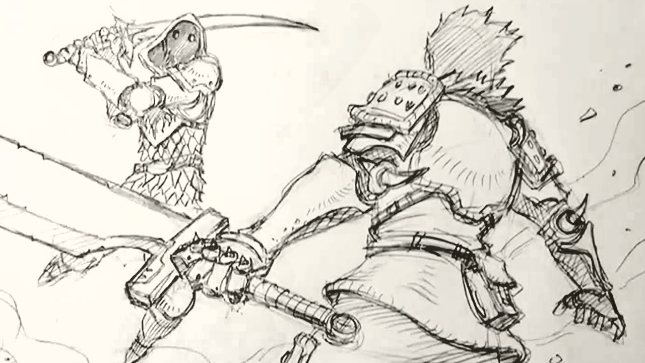 Tutorial to draw fight action scene with perspective step by step ...