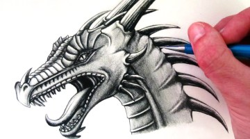 How to draw a dragon easy step by step for beginners