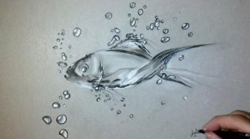 How to draw a fish in water easy step by step for beginners
