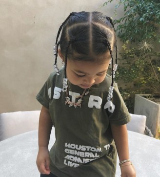Travis Scott Hairstyle and Little girl