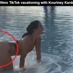Addison Rae films TikTok vacationing with SEXY Kourtney Kardashian!