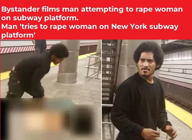 Bystander films man attempting to rape