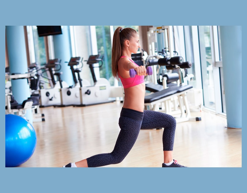 How to Dumbbell lunge
