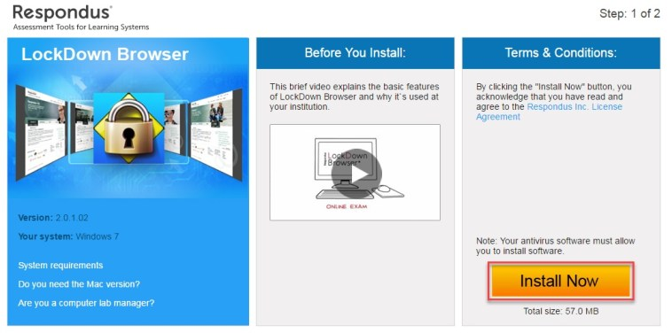 respondus lockdown browser download