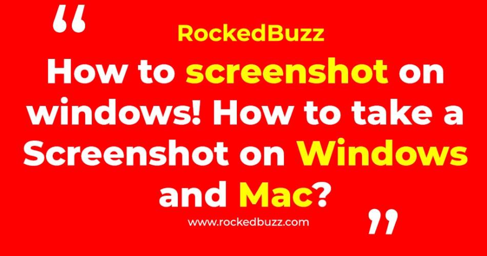 How to screenshot on windows