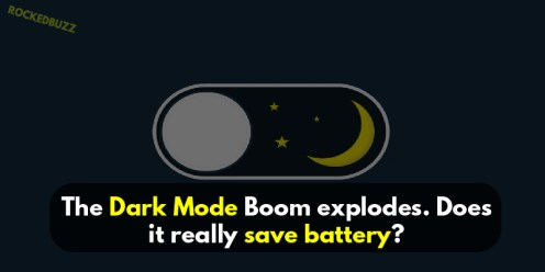 dark mode of apps save battery