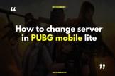 Change Server in PUBG Mobile