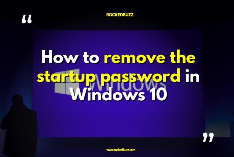 Remove Password From Windows