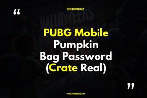 PUBG Mobile Pumpkin Bag Password