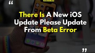 iOS Update Please Update From Beta Error Fix