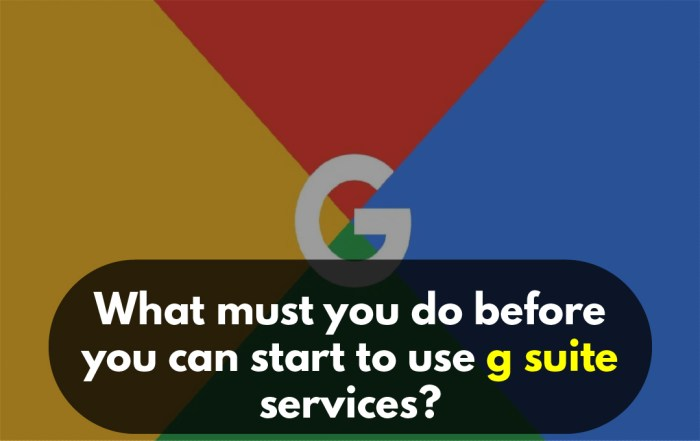 What must you do before you can start to use g suite services