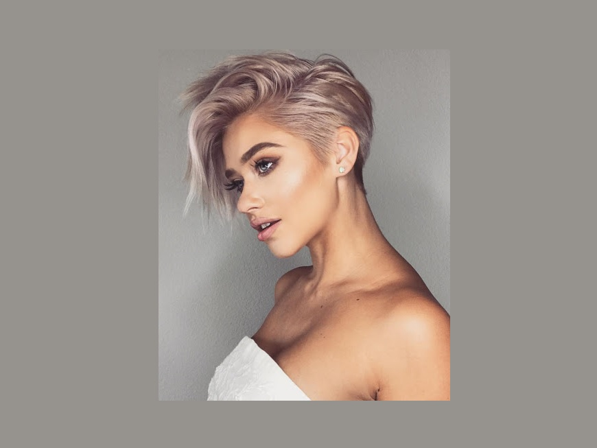 short hair styles for women Side part