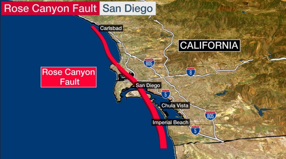 Earthquakes in San Diego right now